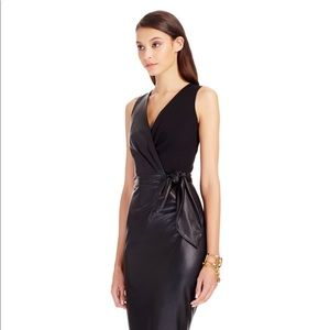 Diane Von Furstenberg Bella Leather Sheath Dress
